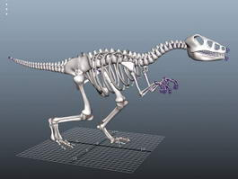 Skeletal Dinosaur Rig 3d preview
