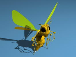Cartoon Bee 3d preview