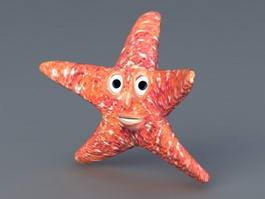 Cartoon Starfish 3d model preview