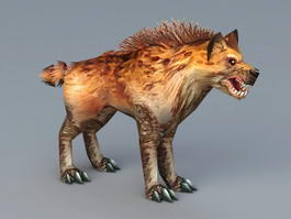 Spotted Hyena 3d model preview