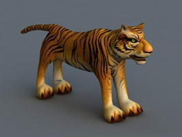 Tiger Rigged 3d model preview