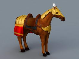 Medieval Horse Armor 3d model preview