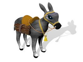 Funny Cartoon Donkey 3d preview