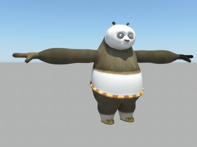 Cartoon Panda 3d rendering
