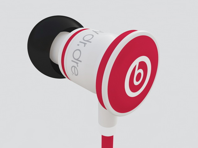 iBeats Earphone 3d rendering