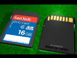 Secure Digital Memory Card 3d model preview