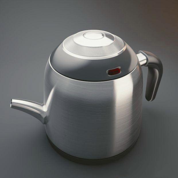 Water Boiler Kettle 3d rendering