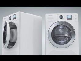 Front-loader Washing Machine 3d preview