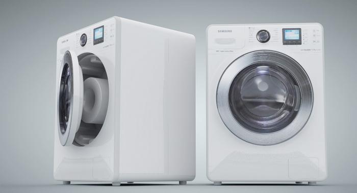 Front-loader Washing Machine 3d rendering