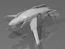 Sci Fi Dropship 3d model preview