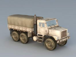 Old Military Truck 3d preview