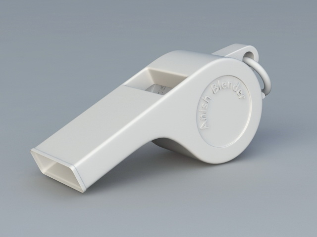 Pea Whistle 3d rendering