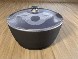 Pot and Lid 3d model preview