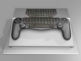 Gamepad Keyboard Hybrid 3d preview