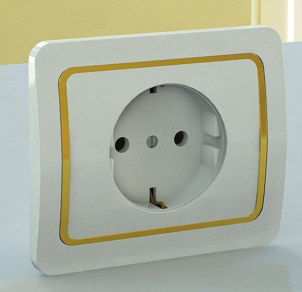 Wall Plug Outlet 3d rendering