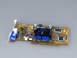 NVIDIA GeForce 440 3d model preview