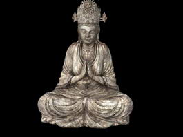 Stone Buddha Statue 3d preview