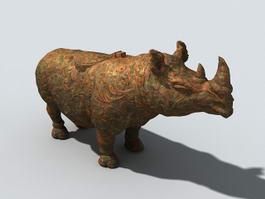 Bronze Rhinoceros 3d preview