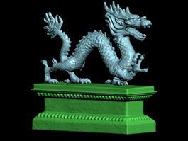 Dragon Coffin 3d model preview