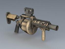 M32 Multi-shot Grenade Launcher 3d preview