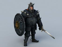 Medieval Black Knight 3d preview