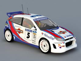 Ford Focus RS WRC 3d model preview