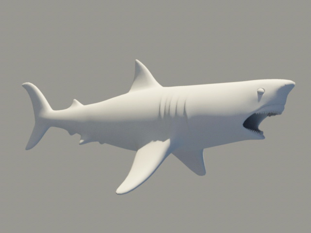Ugly Shark 3d rendering