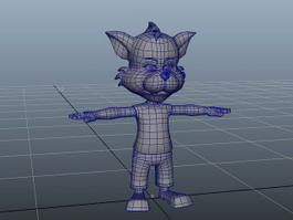 Cartoon Humanoid Fox 3d preview