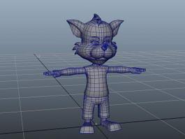 Cartoon Humanoid Fox 3d model preview