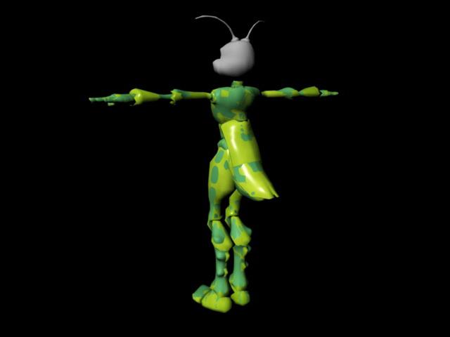 Female Humanoid Ant Rig 3d rendering