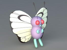 Cartoon Butterfly 3d preview