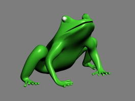 Green Frog 3d preview