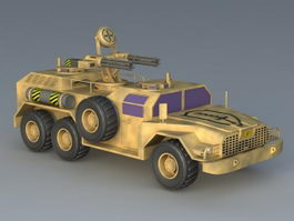 Flaming Blades Anti Aircraft Vehicle 3d preview