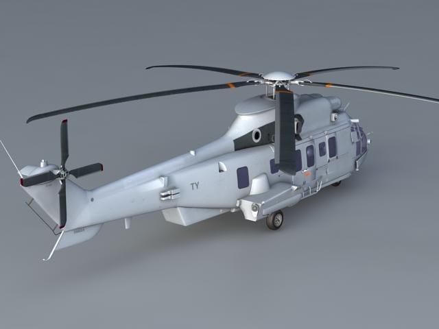 Transport Helicopter 3d rendering