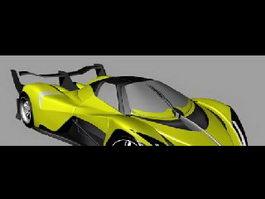 Future Sports Car 3d model preview