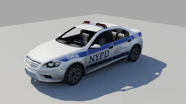 NYPD Ford Mondeo 3d rendering