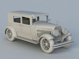 Antique Cadillac Car 3d preview
