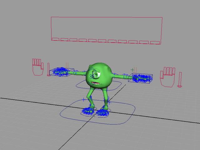 Monsters Inc. Mike 3d rendering