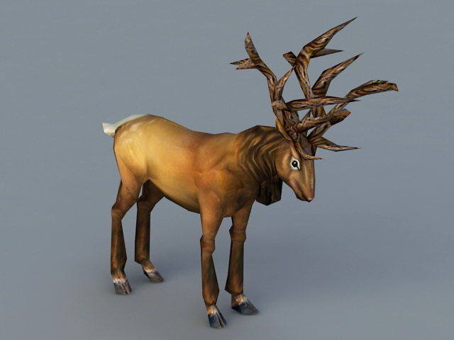 Red Stag 3d rendering