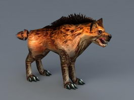 Hyena Dog 3d preview