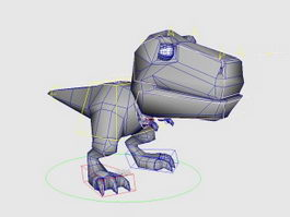 Cartoon Dinosaur Rig 3d model preview