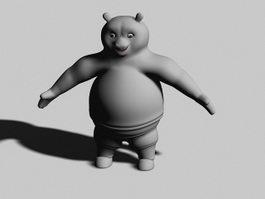 Cartoon Panda Bear 3d model preview