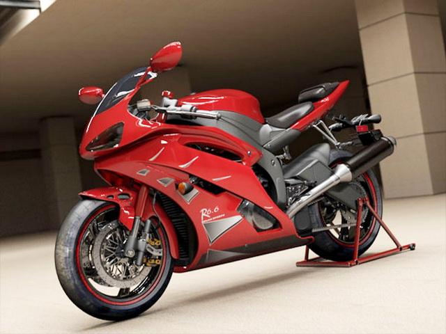 Ducati Super Sport Bike 3d rendering