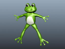 Cartoon Frog 3d preview