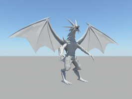 Humanoid Dragon Rig 3d preview