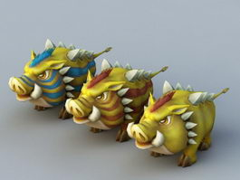 Yellow Boar Rig 3d preview