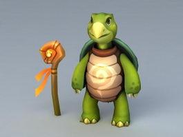 Cartoon Turtle 3d model preview