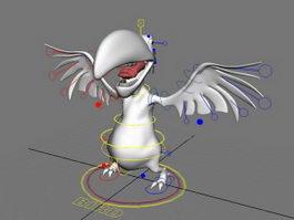 Cartoon Vulture Bird Rig 3d preview