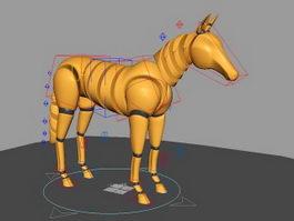 Horse Rig 3d model preview
