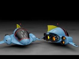 Spaceship Cartoon 3d preview